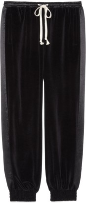 Gucci Loose chenille jogging pant with label