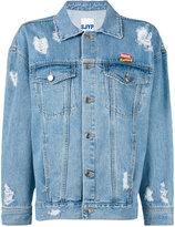 Sjyp distressed denim jacket - women - Cotton - S