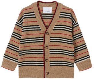 Burberry Kids Icon Stripe Cardigan (6-24 Months)