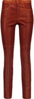 Isabel Marant Joren suede-trimmed leather skinny pants