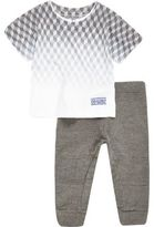 River Island Mini boys grey print t-shirt joggers outfit