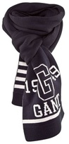 Gant Navy Cotton Knitted Scarf