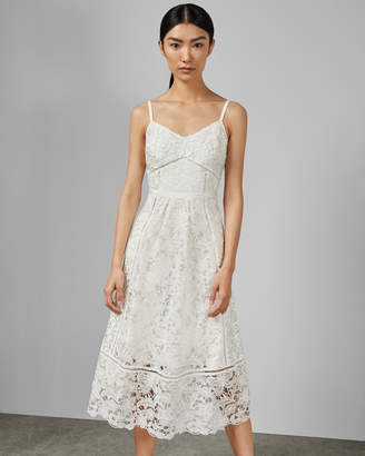 Ted Baker VALENS Mixed lace midi dress