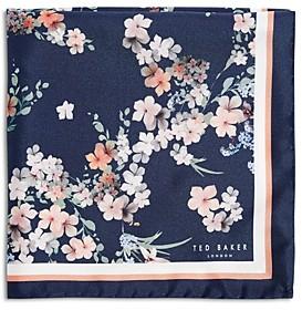Ted Baker Silk Floral Cluster Pocket Square