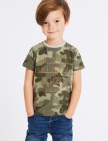 Marks and Spencer Pure Cotton Printed Top (3 Months - 7 Years)