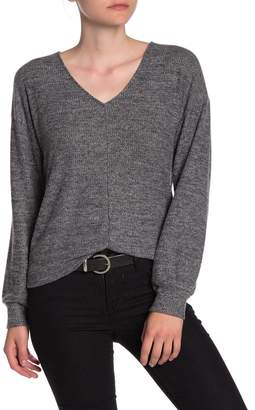 Lucky Brand Ribbed V-Neck Pullover