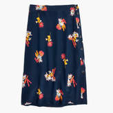 Madewell Silk Side-Button Skirt in Cactus Flower