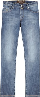 Jacob Cohen J622 Light Blue Slim-leg Jeans
