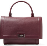 Givenchy Small Shark Bag In Burgundy Textured-leather - one size