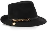 Stella McCartney Felt Chain Trilby Hat
