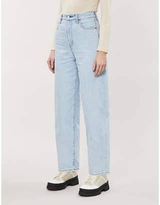 Levi's High-rise wide-leg denim jeans