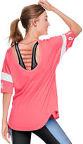 PINK Open Back Athletic Tee