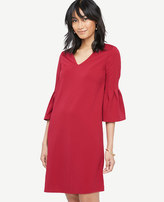 Ann Taylor Fluted Sleeve Shift Dress