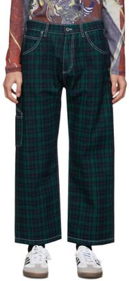 Rassvet Green Check Contrast Work Jeans
