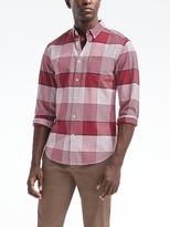 Banana Republic Grant-Fit Cotton-Stretch Plaid Shirt