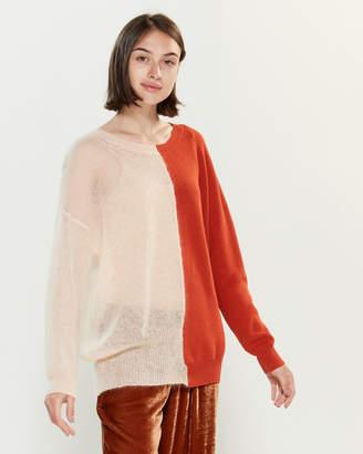 Roberto Collina Two Tone Texture Long Sleeve Sweater