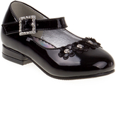 Josmo Black Patent Floral-Accent Mary Jane