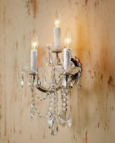 Horchow Ariana Three-Light Crystal Sconce