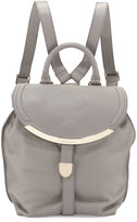 See by Chloe Leather Flap-Top Backpack, Cashmere Gray