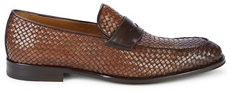 Bruno Magli Faneta Braided Leather Penny Loafers