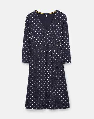 Joules 208563 Wrap Dress With 3/4 Sleeve