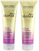 John Frieda Sheer Blonde Colour Renew Tone-Correcting, DUO set Shampoo + Conditioner, 8.45 Ounce, 1 each
