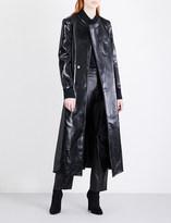Yang Li Oversized lacquered wool-blend coat