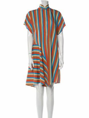 Akris Punto Striped Knee-Length Dress