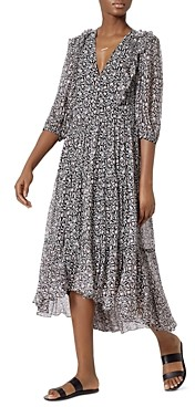 Joie Jamilla Floral Silk Midi Dress