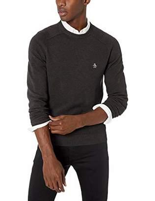 Original Penguin Men's Long Sleeve Honeycomb Sweater