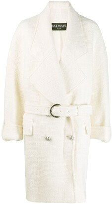 Balmain Double-Breasted Knitted Coat