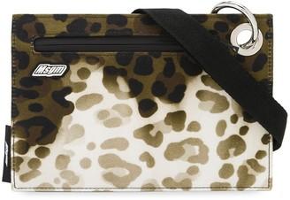 MSGM Leopard-Print Pouch