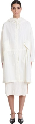 Jil Sander Essential Outdo Casual Jacket In White Cotton
