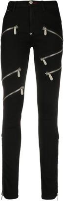 Philipp Plein Skinny-Fit Zipped Jeans