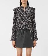 AllSaints Edin Nevin Silk Shirt
