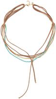 Shashi 3 Strand Suede Choker Necklace