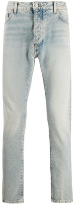Palm Angels logo print slim-fit jeans