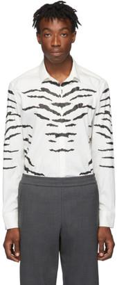 Neil Barrett Off-White and Black Tiger Print Shirt