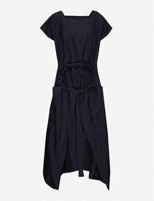 Toogood Drawstring-detail cotton midi dress