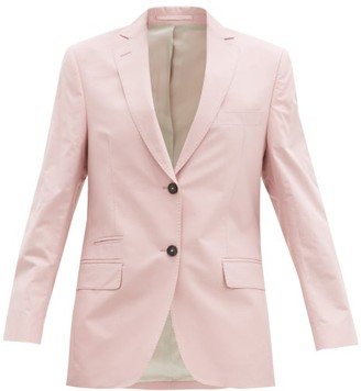 Officine Generale Charlene Single-breasted Cotton-twill Jacket - Light Pink