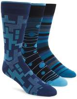 Bugatchi Men's 3-Pack Mixed Pattern Socks
