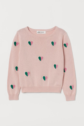 H&M Appliqued Sweater - Pink