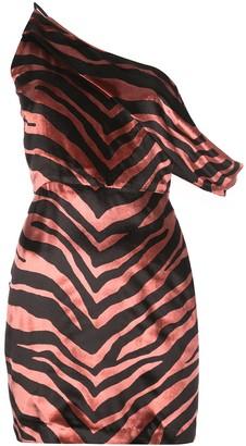 Mason by Michelle Mason Draped Shoulder Mini Dress