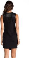 Derek Lam 10 CROSBY Leather Yoke Sleeveless Dress