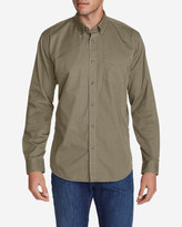Eddie Bauer Men's Signature Twill Classic Fit Long-Sleeve Shirt - Solid