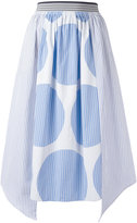Stella McCartney stripe panel skirt - women - Cotton - 38
