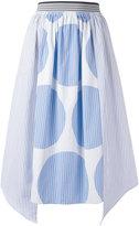 Stella McCartney stripe panel skirt - women - Cotton - 40