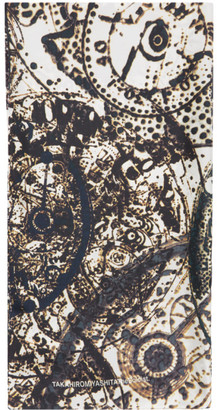 TAKAHIROMIYASHITA TheSoloist. White and Brown Silk Scarf