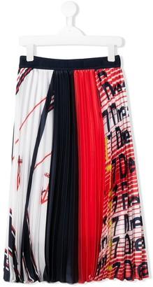 MSGM Kids satin pleated skirt