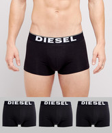 Diesel Cotton Stretch Trunks In 3 Pack